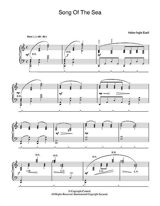 Helen Ingle Ezell Song Of The Sea sheet music notes and chords