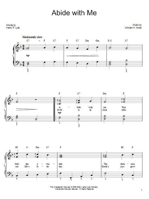 Download Henry F. Lyte 'Abide With Me' Digital Sheet Music Notes & Chords and start playing in minutes
