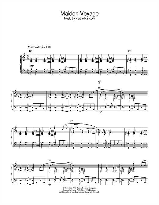 Download Herbie Hancock 'Maiden Voyage' Digital Sheet Music Notes & Chords and start playing in minutes