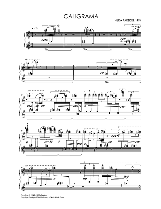 Download Hilda Paredes 'Caligrama' Digital Sheet Music Notes & Chords and start playing in minutes