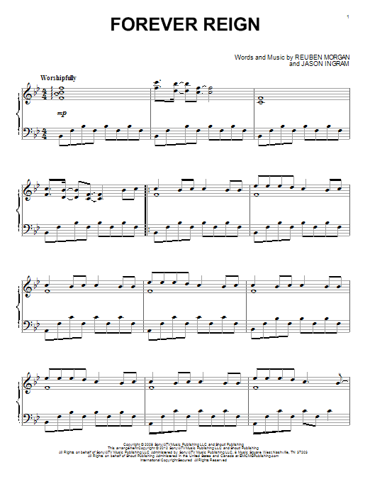 Download Hillsong United 'Forever Reign' Digital Sheet Music Notes & Chords and start playing in minutes