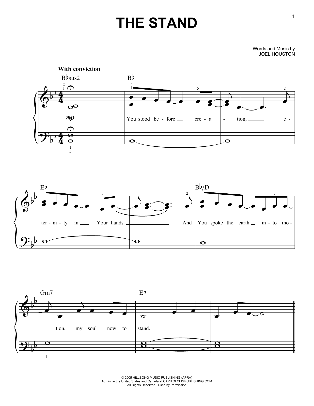Joel Houston The Stand sheet music notes and chords