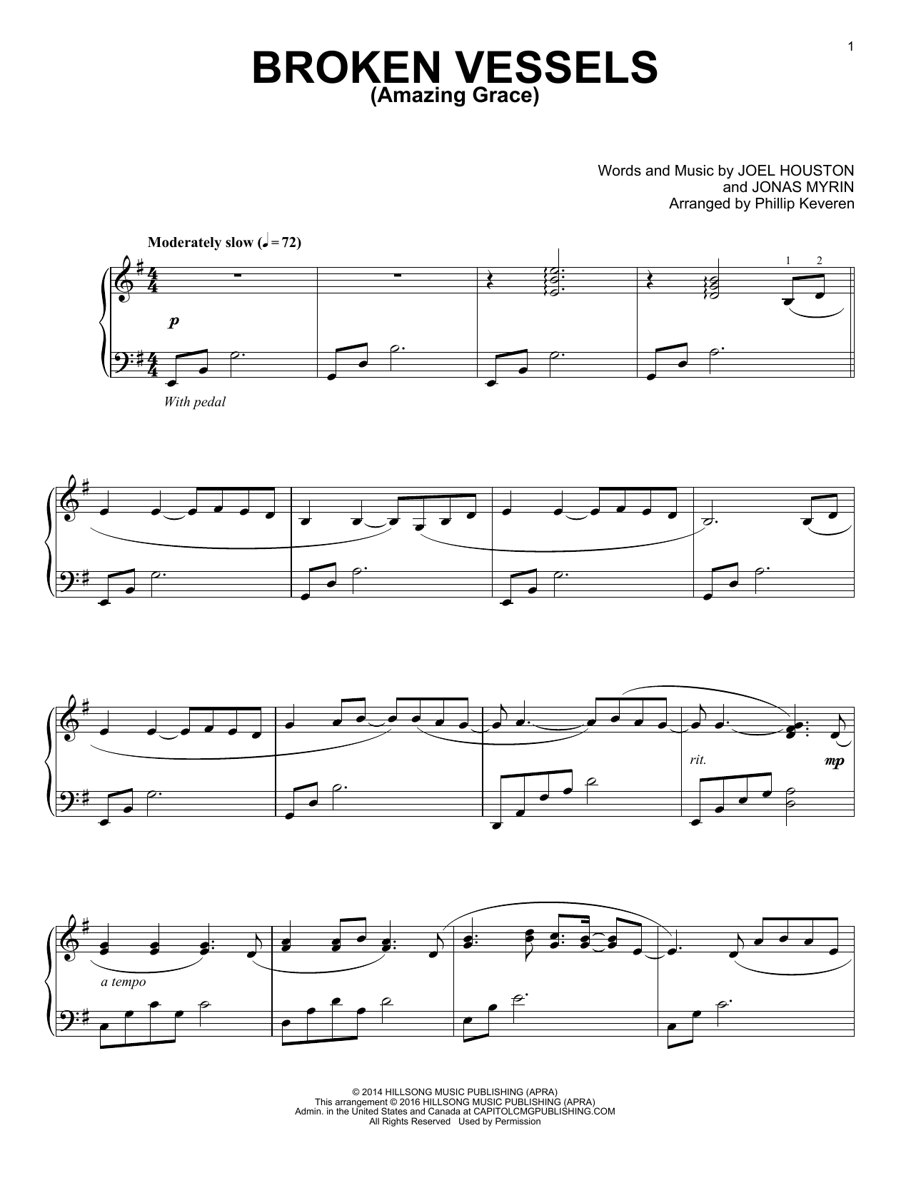 Download Phillip Keveren 'Broken Vessels (Amazing Grace)' Digital Sheet Music Notes & Chords and start playing in minutes