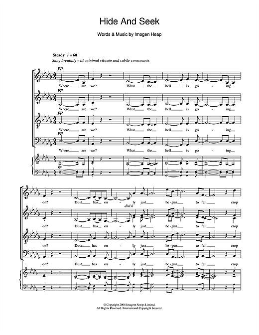 Imogen Heap Hide And Seek sheet music notes and chords