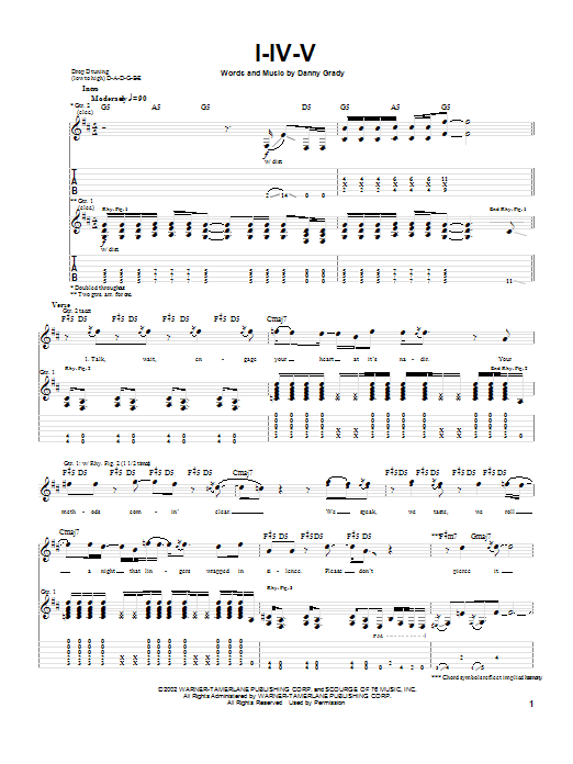 Injected I-IV-V sheet music preview music notes and score for Guitar Tab including 7 page(s)