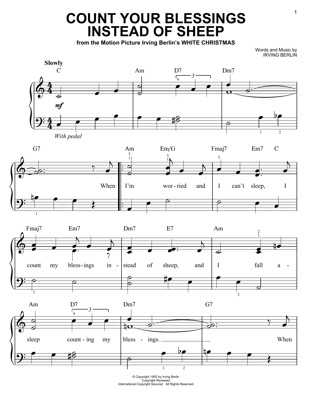 Download Irving Berlin 'Count Your Blessings Instead Of Sheep' Digital Sheet Music Notes & Chords and start playing in minutes