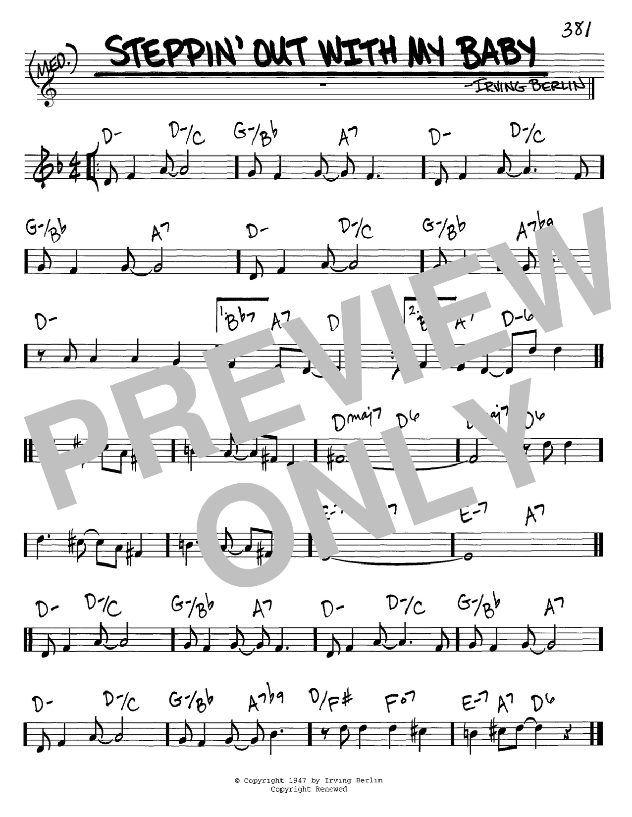 Download Irving Berlin 'Steppin' Out With My Baby' Digital Sheet Music Notes & Chords and start playing in minutes