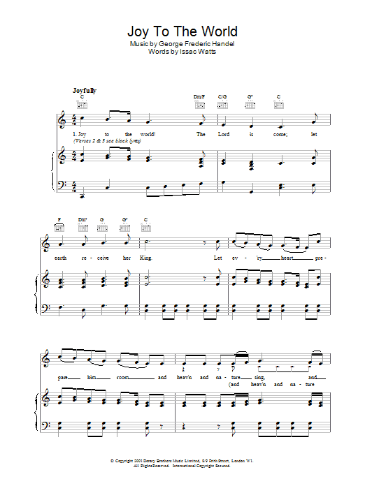 Isaac Watts Joy To The World sheet music preview music notes and score for Guitar Tab including 2 page(s)