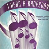 Download or print I Hear A Rhapsody Sheet Music Notes by Jack Baker for Piano