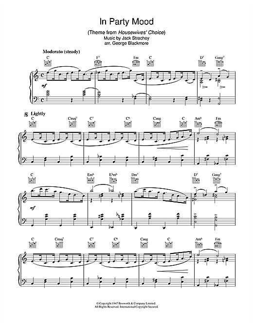 Download Jack Strachey 'In Party Mood (theme from Housewives' Choice)' Digital Sheet Music Notes & Chords and start playing in minutes