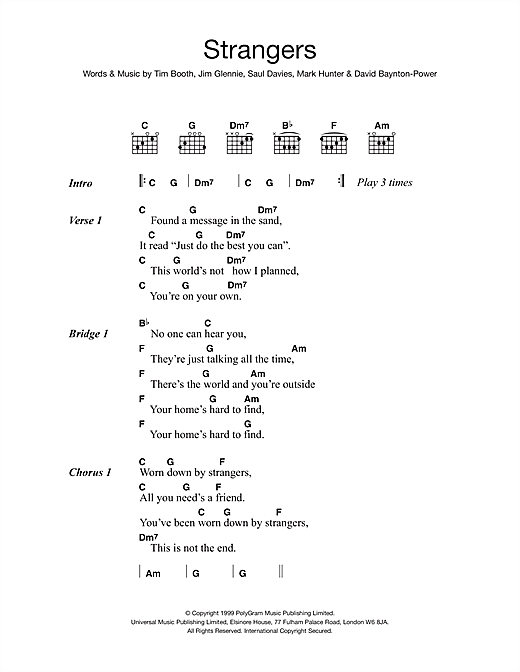 James Strangers sheet music notes and chords