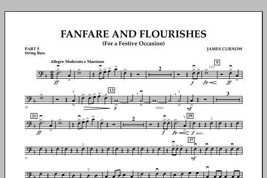 James Curnow Fanfare and Flourishes (for a Festive Occasion) - Pt.5 - String/Electric Bass sheet music notes and chords