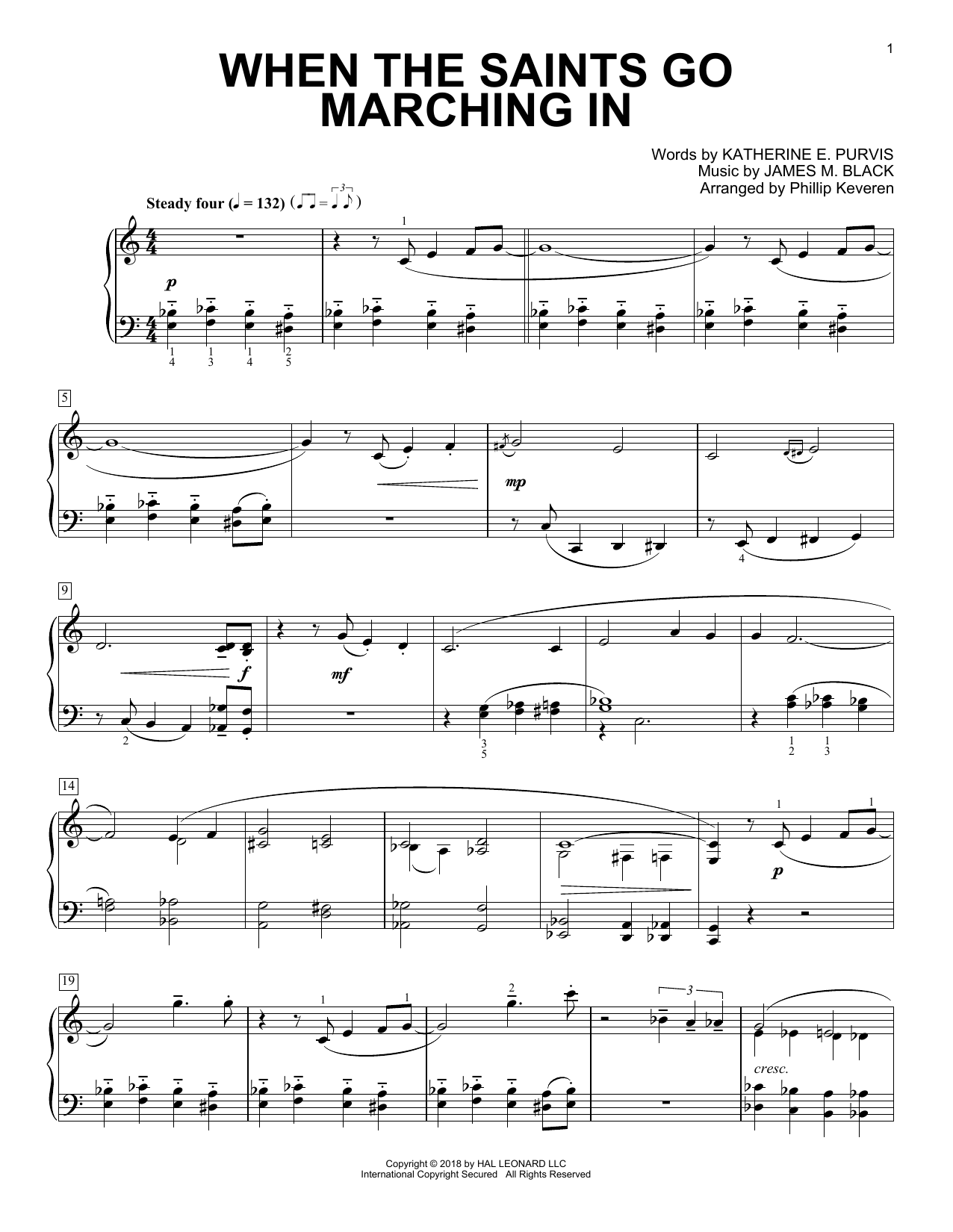 Download Phillip Keveren 'When The Saints Go Marching In' Digital Sheet Music Notes & Chords and start playing in minutes