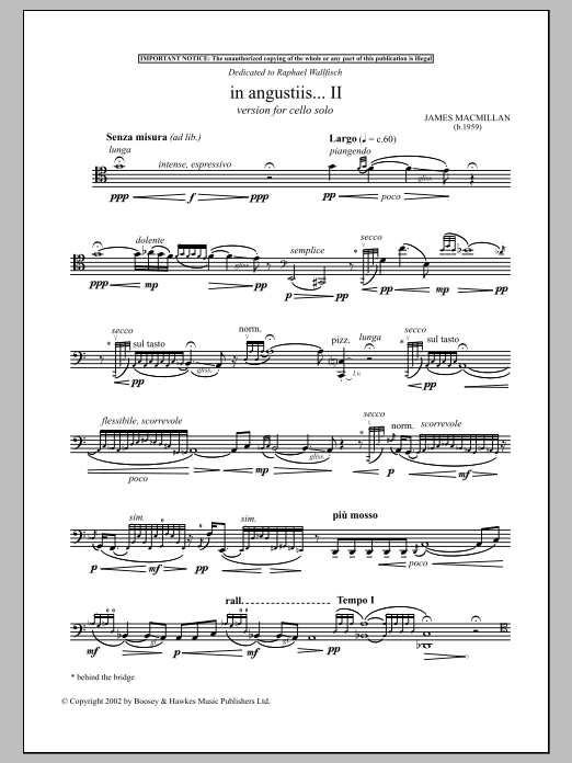 Download James MacMillan 'In Angustiis' Digital Sheet Music Notes & Chords and start playing in minutes