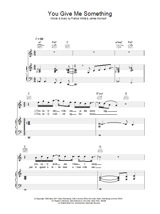 James Morrison You Give Me Something sheet music preview music notes and score for Flute including 2 page(s)