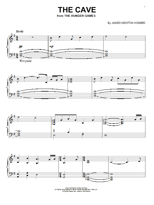 Download James Newton Howard 'The Cave' Digital Sheet Music Notes & Chords and start playing in minutes