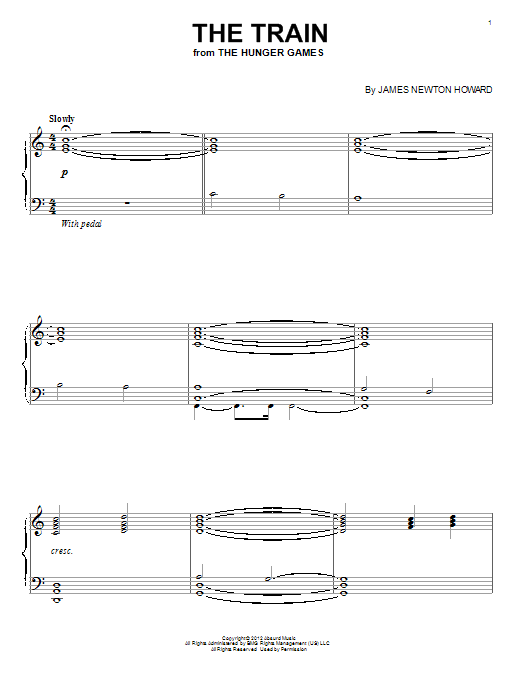 Download James Newton Howard 'The Train' Digital Sheet Music Notes & Chords and start playing in minutes