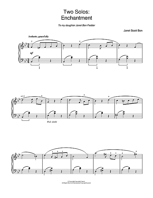 Download Janet Scott Bon 'Enchantment' Digital Sheet Music Notes & Chords and start playing in minutes