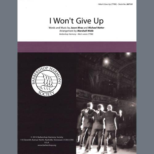 Jason Mraz I Won't Give Up (arr. Marshall Webb) profile picture