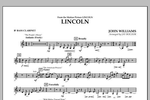 Jay Bocook Lincoln - Bb Bass Clarinet sheet music notes and chords
