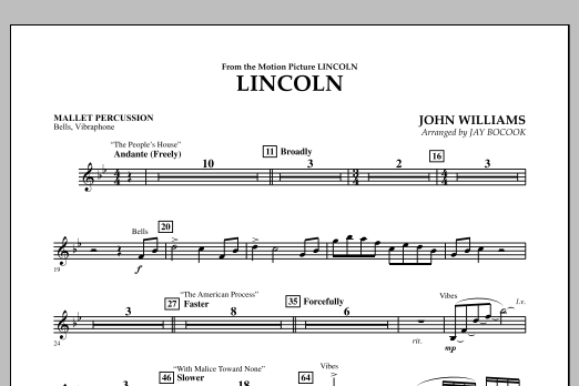 Jay Bocook Lincoln - Mallet Percussion sheet music notes and chords