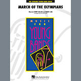Download or print March Of The Olympians - Percussion 1 Sheet Music Notes by Jay Bocook for Concert Band