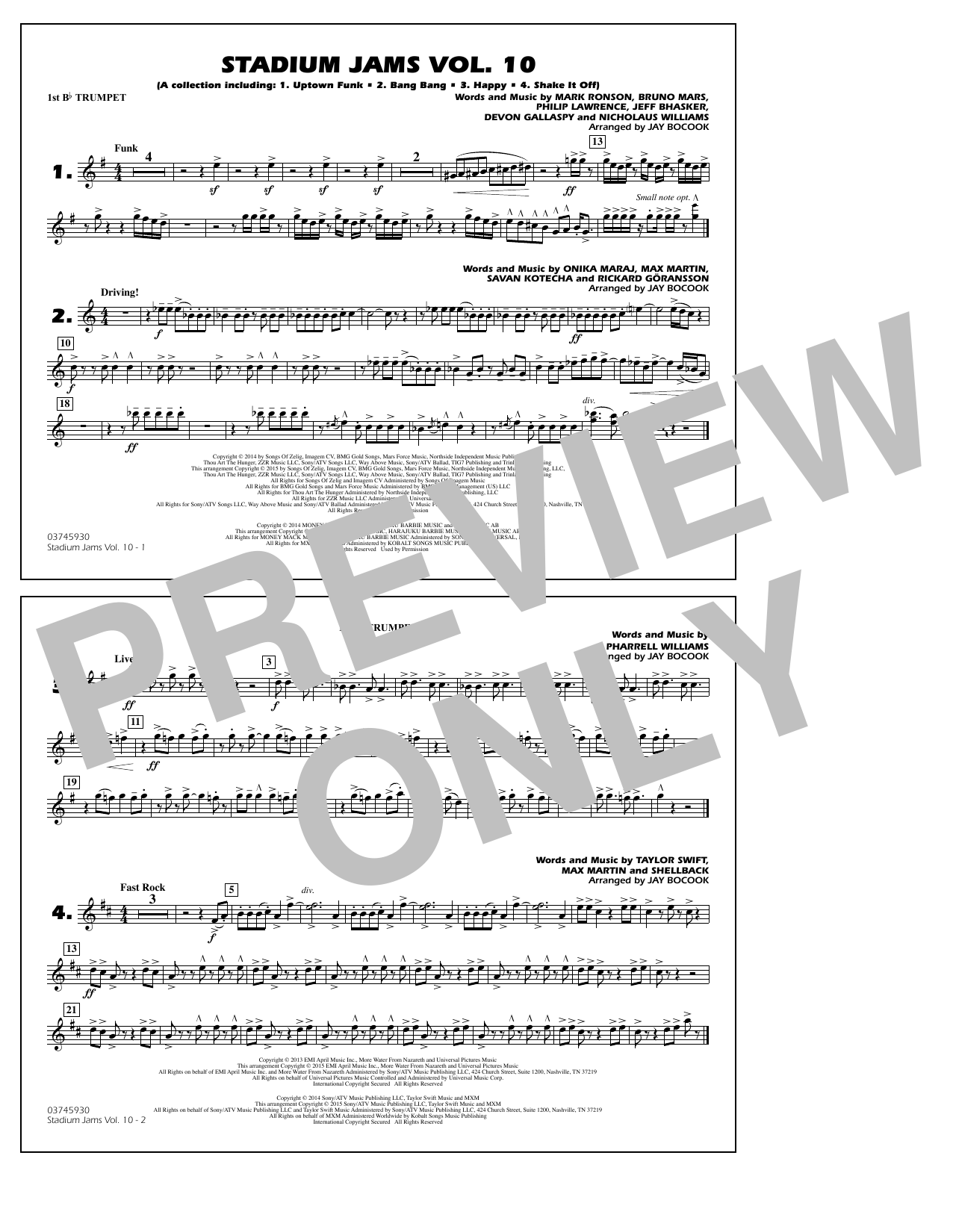 Download Jay Bocook 'Stadium Jams Vol. 10 - 1st Bb Trumpet' Digital Sheet Music Notes & Chords and start playing in minutes