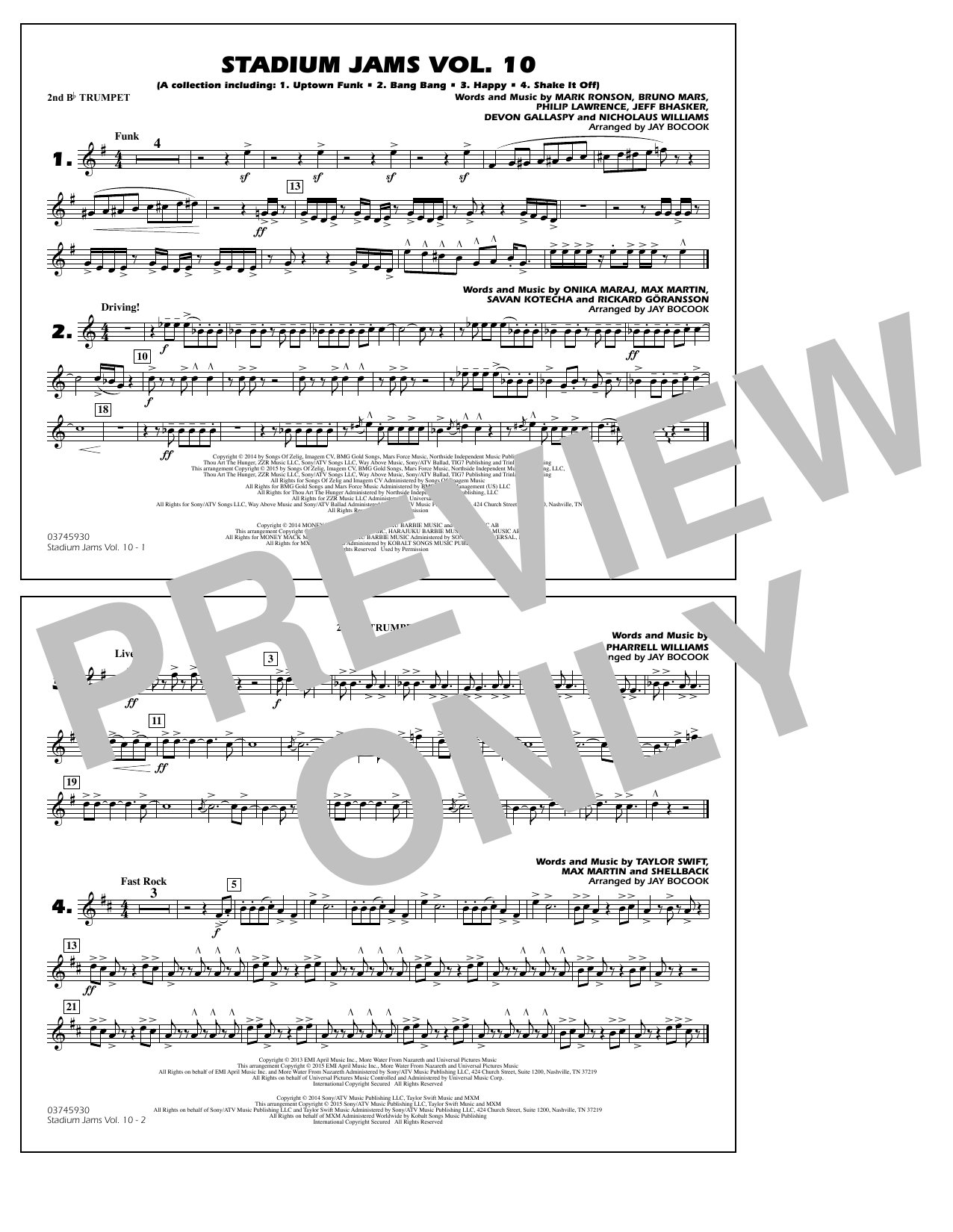 Download Jay Bocook 'Stadium Jams Vol. 10 - 2nd Bb Trumpet' Digital Sheet Music Notes & Chords and start playing in minutes