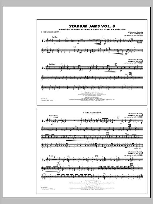 Download Jay Bocook 'Stadium Jams Volume 8 (Michael Jackson) - Bb Horn/Flugelhorn' Digital Sheet Music Notes & Chords and start playing in minutes