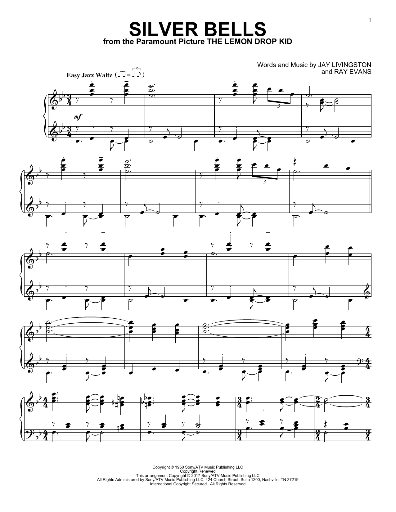 Download Jay Livingston 'Silver Bells' Digital Sheet Music Notes & Chords and start playing in minutes