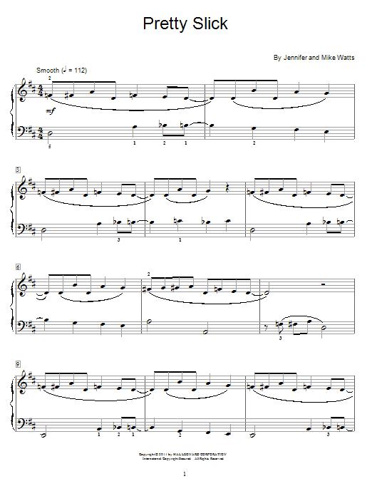 Jennifer Watts Pretty Slick sheet music notes and chords