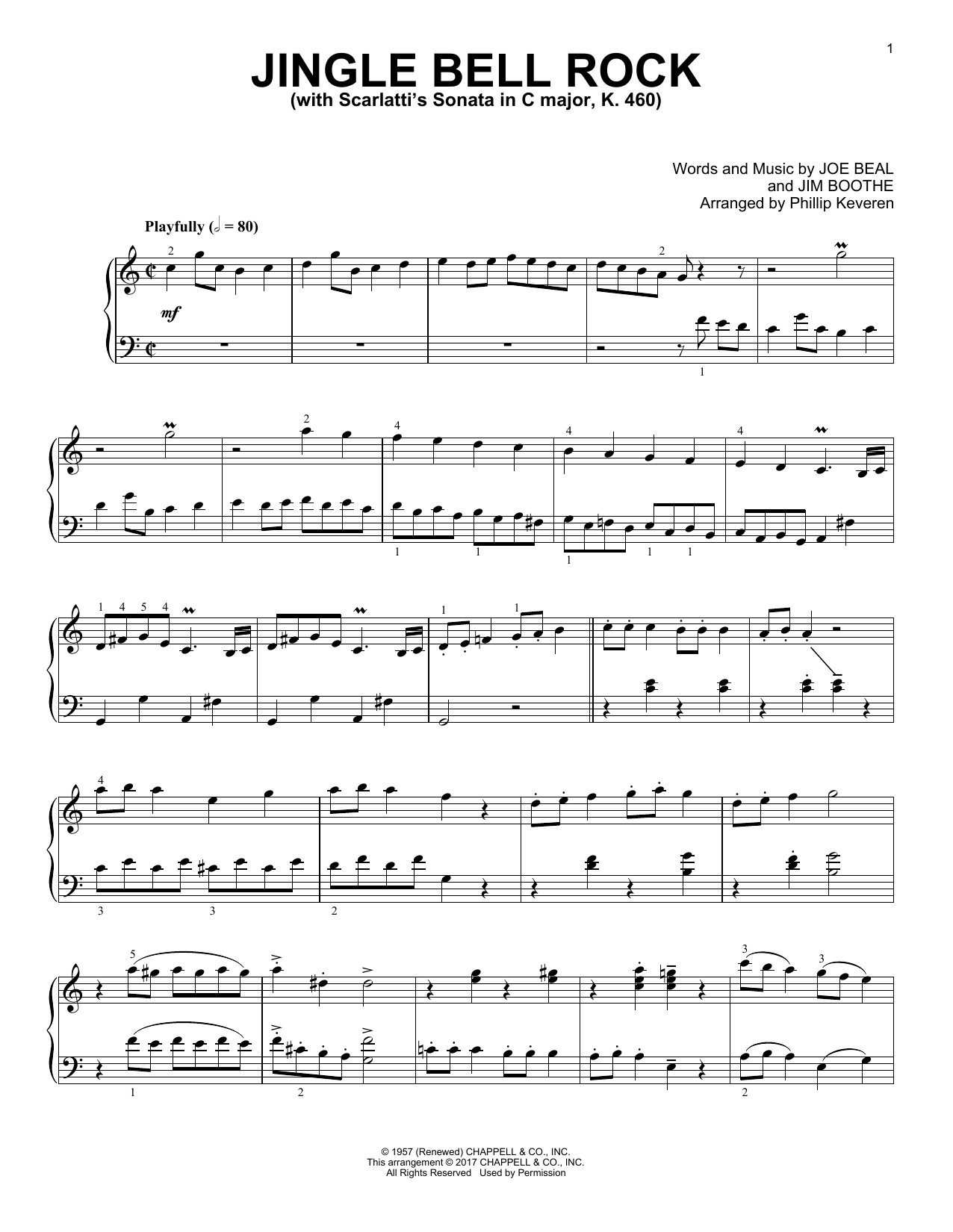 Download Phillip Keveren 'Jingle Bell Rock' Digital Sheet Music Notes & Chords and start playing in minutes
