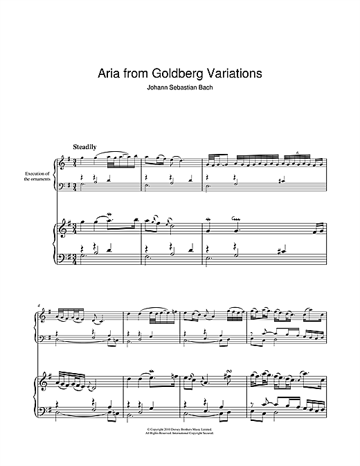 Download J.S. Bach 'Aria from The 'Goldberg' Variations' Digital Sheet Music Notes & Chords and start playing in minutes