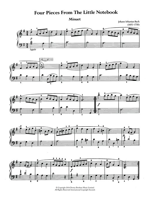 Download J.S. Bach 'Four Pieces From The Little Notebook' Digital Sheet Music Notes & Chords and start playing in minutes