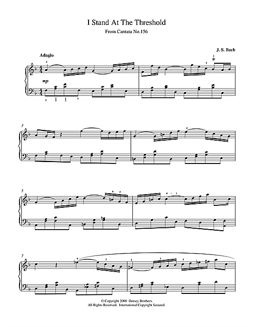 Download J.S. Bach 'I Stand At The Threshold' Digital Sheet Music Notes & Chords and start playing in minutes