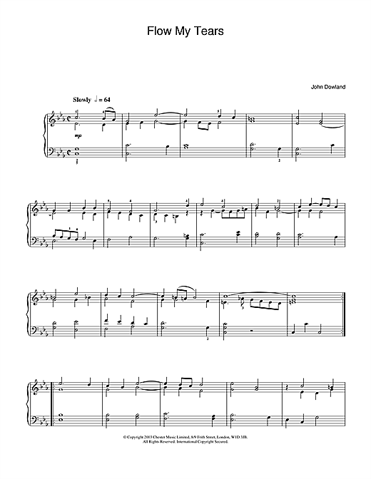 Download John Dowland 'Flow My Tears' Digital Sheet Music Notes & Chords and start playing in minutes