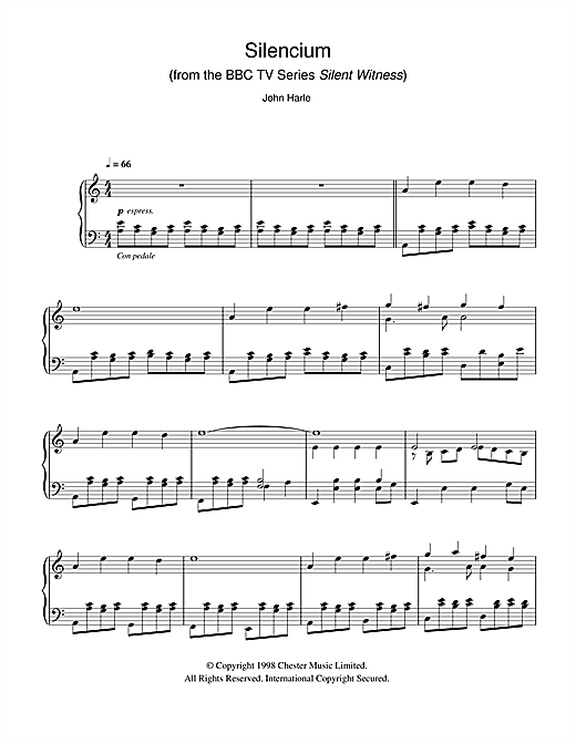 Download John Harle 'Silencium (from the BBC TV Series Silent Witness)' Digital Sheet Music Notes & Chords and start playing in minutes