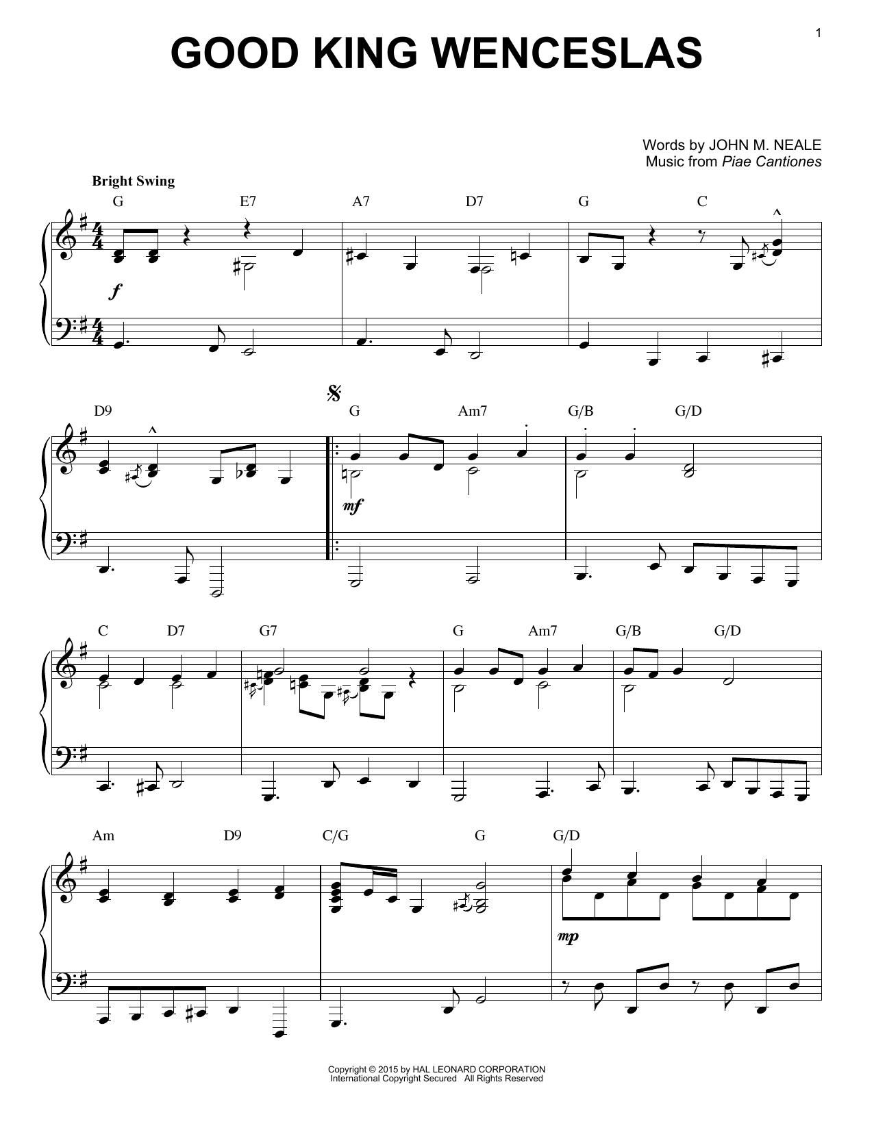 Download Christmas Carol 'Good King Wenceslas' Digital Sheet Music Notes & Chords and start playing in minutes
