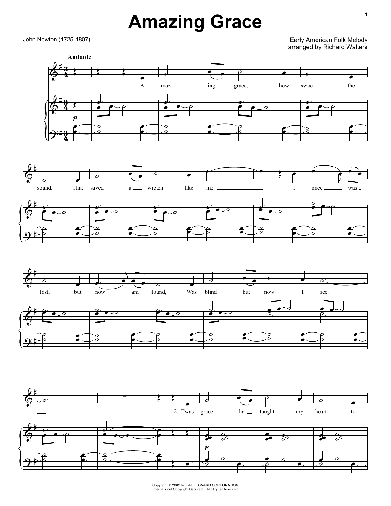 Traditional Amazing Grace sheet music preview music notes and score for Ukulele with strumming patterns including 2 page(s)