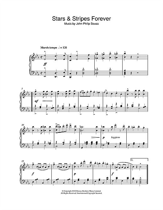 Download John Philip Sousa 'Stars & Stripes Forever' Digital Sheet Music Notes & Chords and start playing in minutes