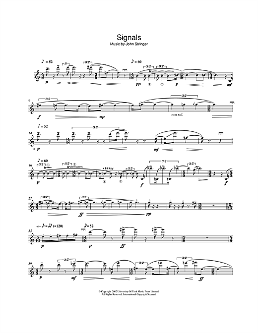 Download John Stringer 'Signals' Digital Sheet Music Notes & Chords and start playing in minutes