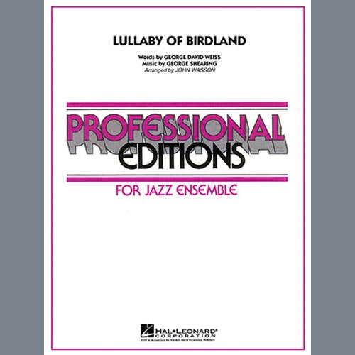John Wasson Lullaby Of Birdland - Baritone Sax profile picture