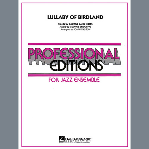 John Wasson Lullaby Of Birdland - Tenor Sax 1 profile picture