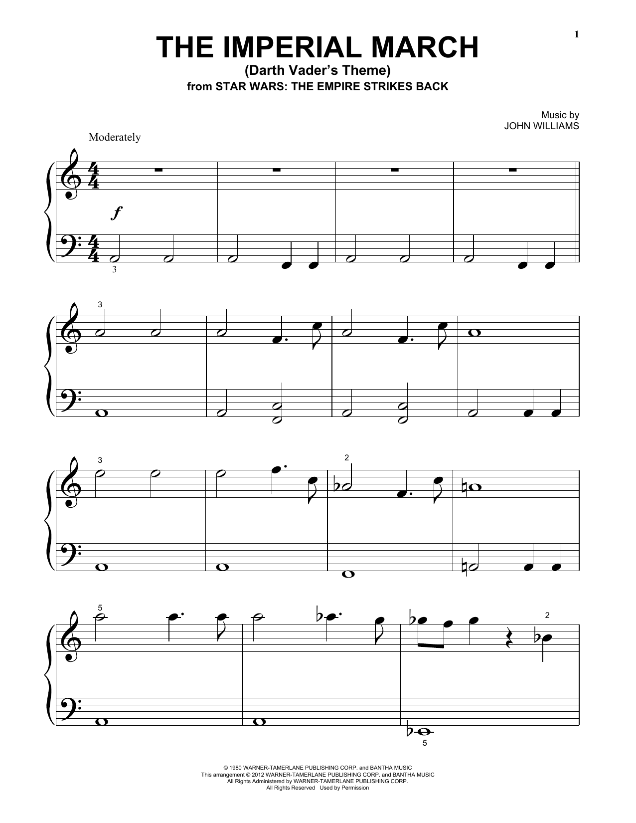 Download John Williams 'The Imperial March (Darth Vader's Theme)' Digital Sheet Music Notes & Chords and start playing in minutes