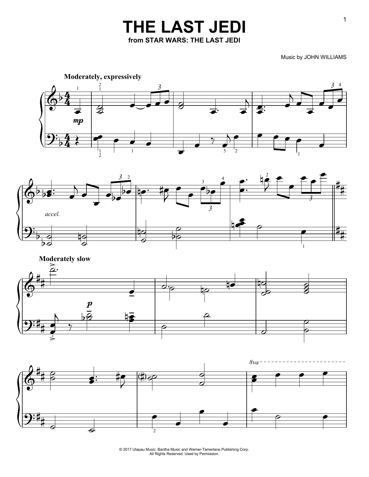 Download John Williams 'The Last Jedi' Digital Sheet Music Notes & Chords and start playing in minutes