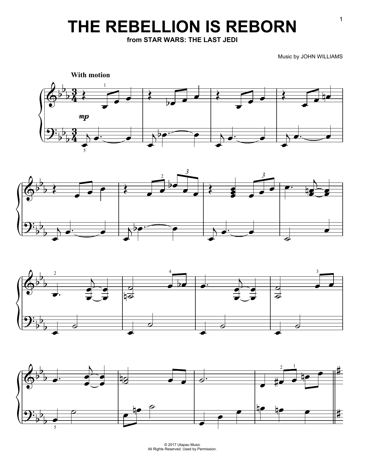 Download John Williams 'The Rebellion Is Reborn' Digital Sheet Music Notes & Chords and start playing in minutes