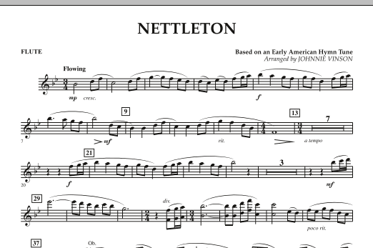 Johnnie Vinson Nettleton - Flute sheet music preview music notes and score for Concert Band including 1 page(s)