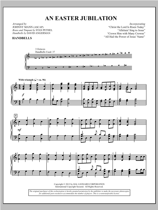 Download Johnny Mann 'An Easter Jubilation' Digital Sheet Music Notes & Chords and start playing in minutes