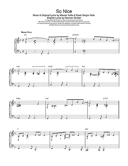 Download Johnny Mercer 'So Nice' Digital Sheet Music Notes & Chords and start playing in minutes