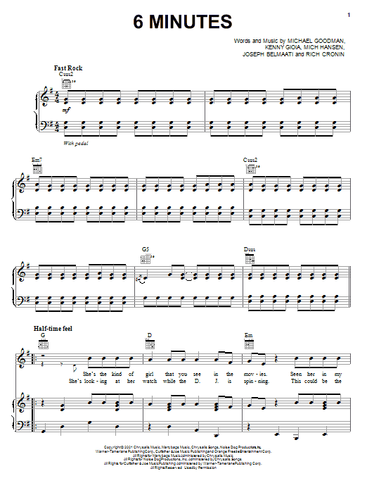 Download Jonas Brothers '6 Minutes' Digital Sheet Music Notes & Chords and start playing in minutes